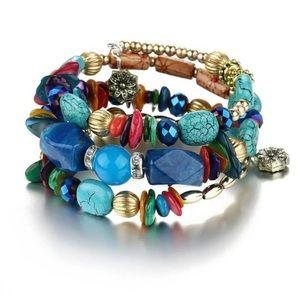 Jewelry - Vibrant Boho Fantasy Beaded bracelet